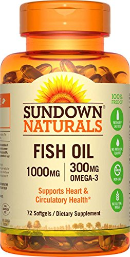 72 count sundown naturals fish oil 1000 mg at for Sundown naturals fish oil