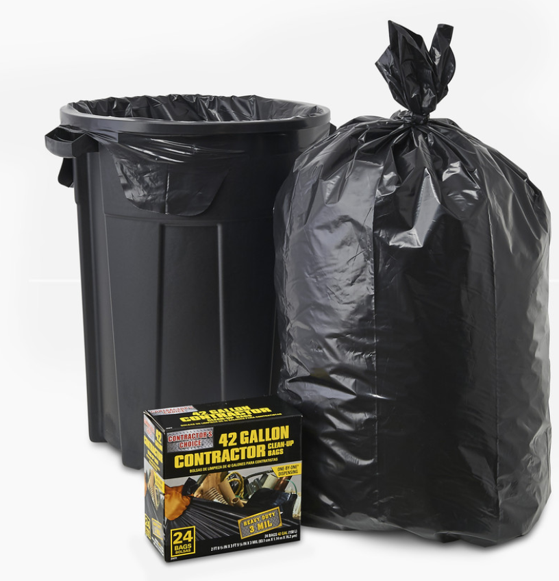 24-Pack Contractor's Choice 42-Gallon Construction Trash Bags  $8.98 at Lowe's online deal