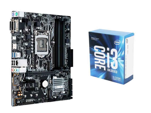 Intel Core i3-7350K 4.2GHz CPU + Asus Prime B250 Mobo  $140 at Newegg online deal
