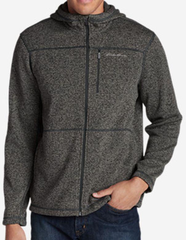Eddie Bauer Radiator Men's Full-Zip Hooded Fleece Jacket  $30 at Eddie Bauer online deal