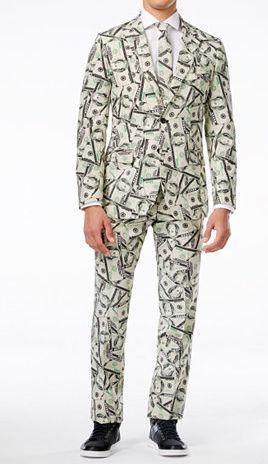 OppoSuits Cashanova Slim-Fit Suit & Tie   $77 at Macys online deal
