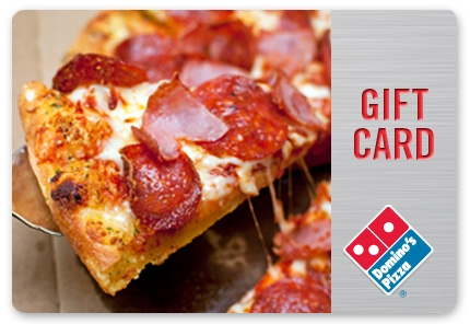 $20 Domino's Pizza Gift Card  $10 at Groupon online deal