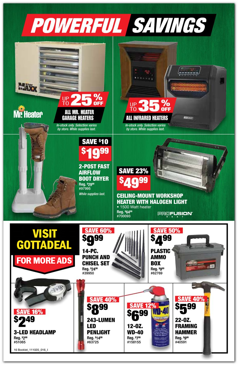 Heaters / Lights / Hand Tools