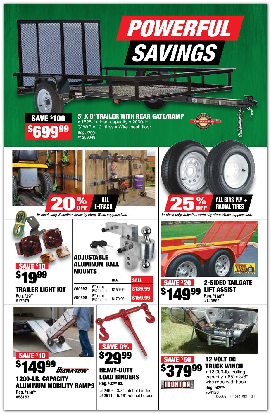 Trailer / Tires / Winch