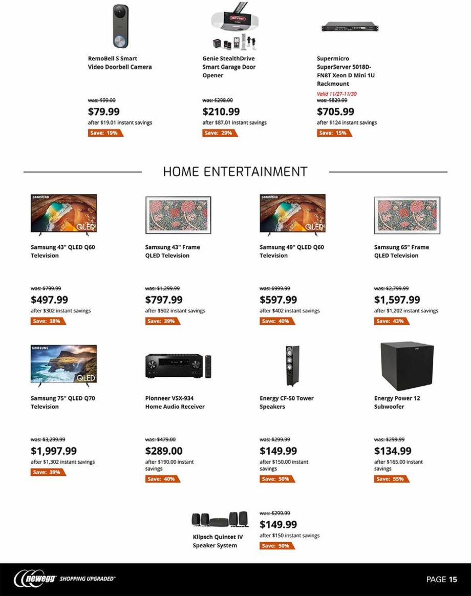 HDTVs / Speakers