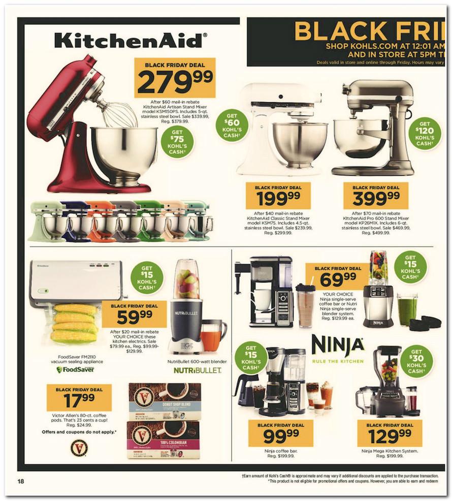 Black Friday Kohls Deals