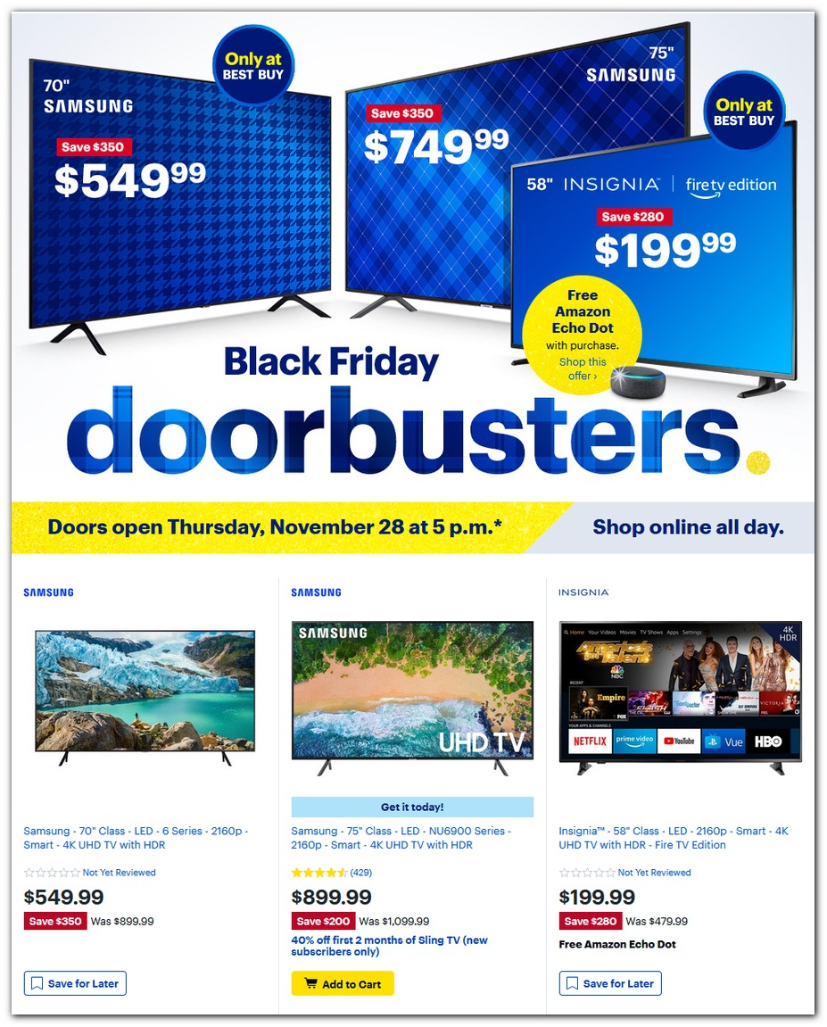 HDTV Doorbusters (Thursday)
