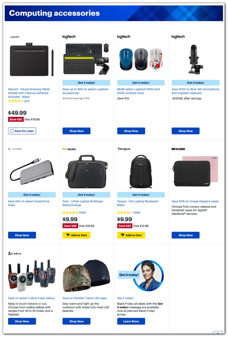 Logitech Gear / Backpack / 2-Way Radios