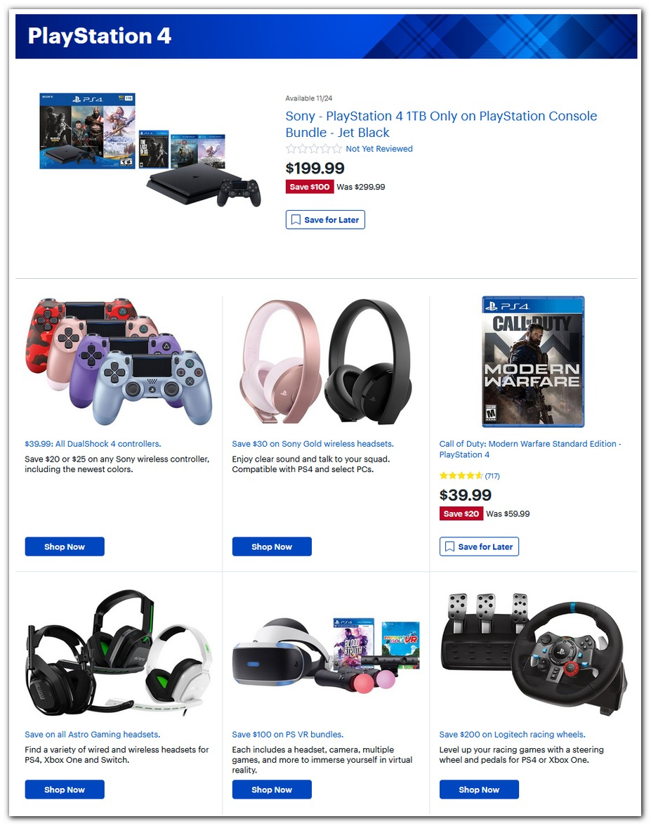 $200 PS4 Bundle / $40 Modern Warfare