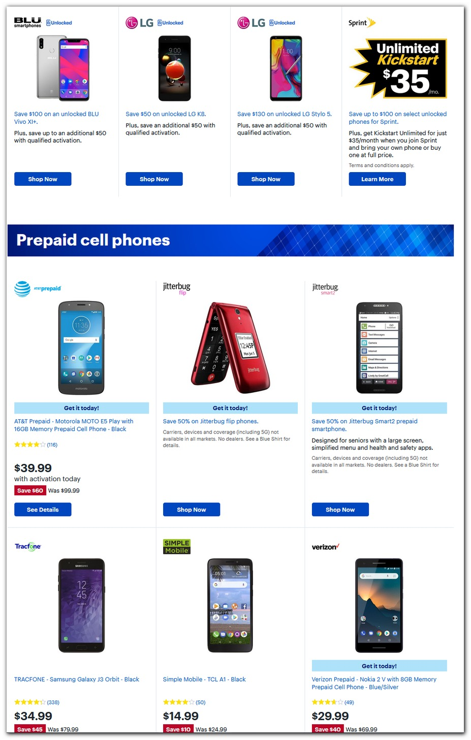 Prepaid Cell Phones