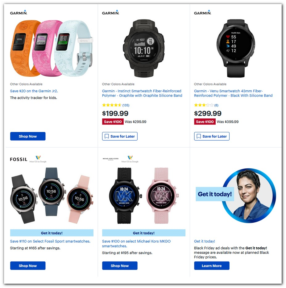 Garmin Trackers / Fossil Smartwatches