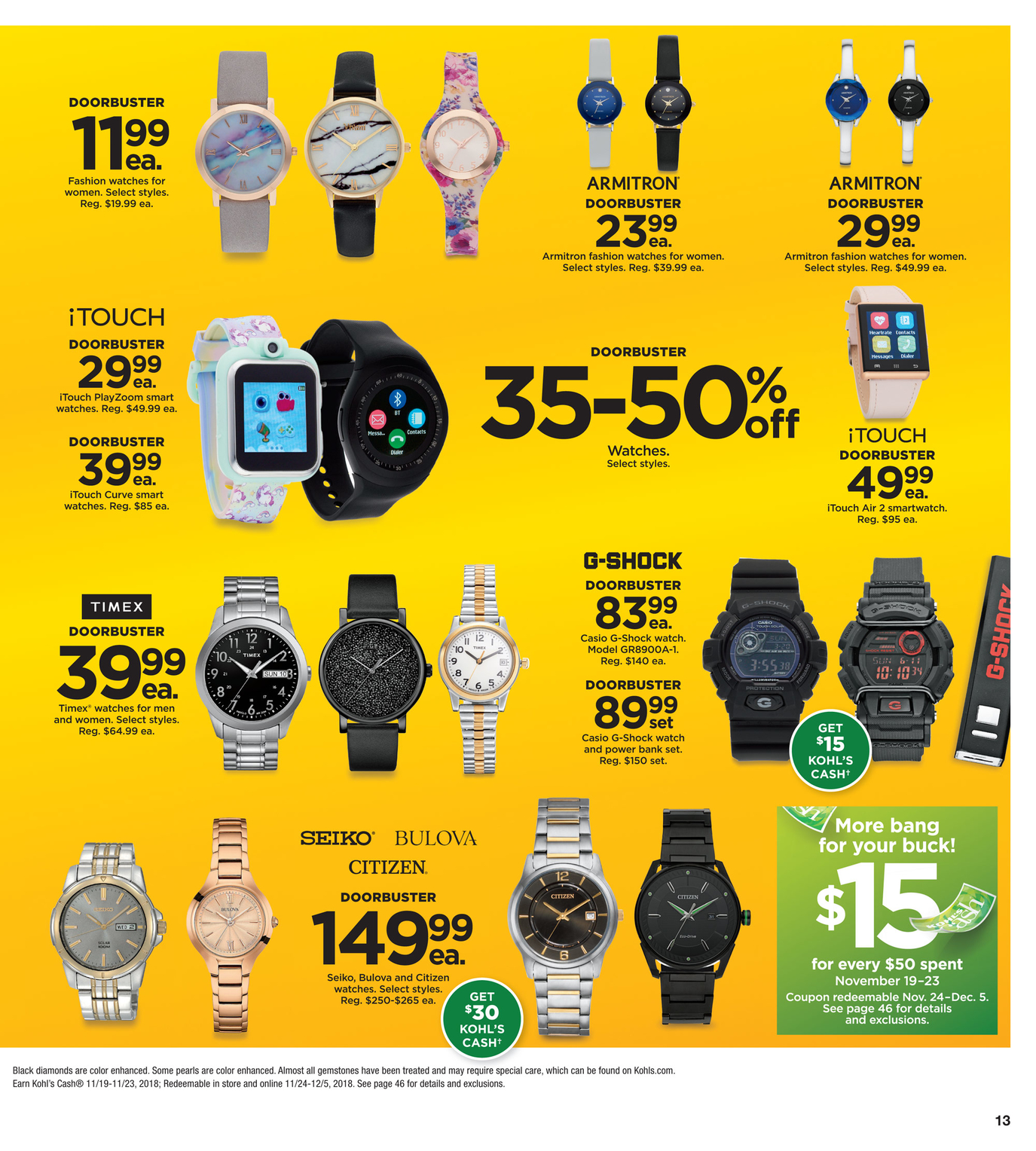 P13:  Watches