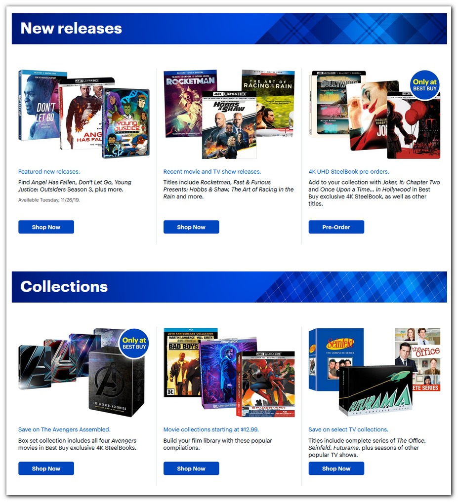 New Release Movies / Collector Editions