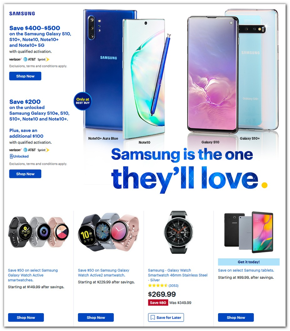 Samsung S10 / Tablets / Galaxy Watch