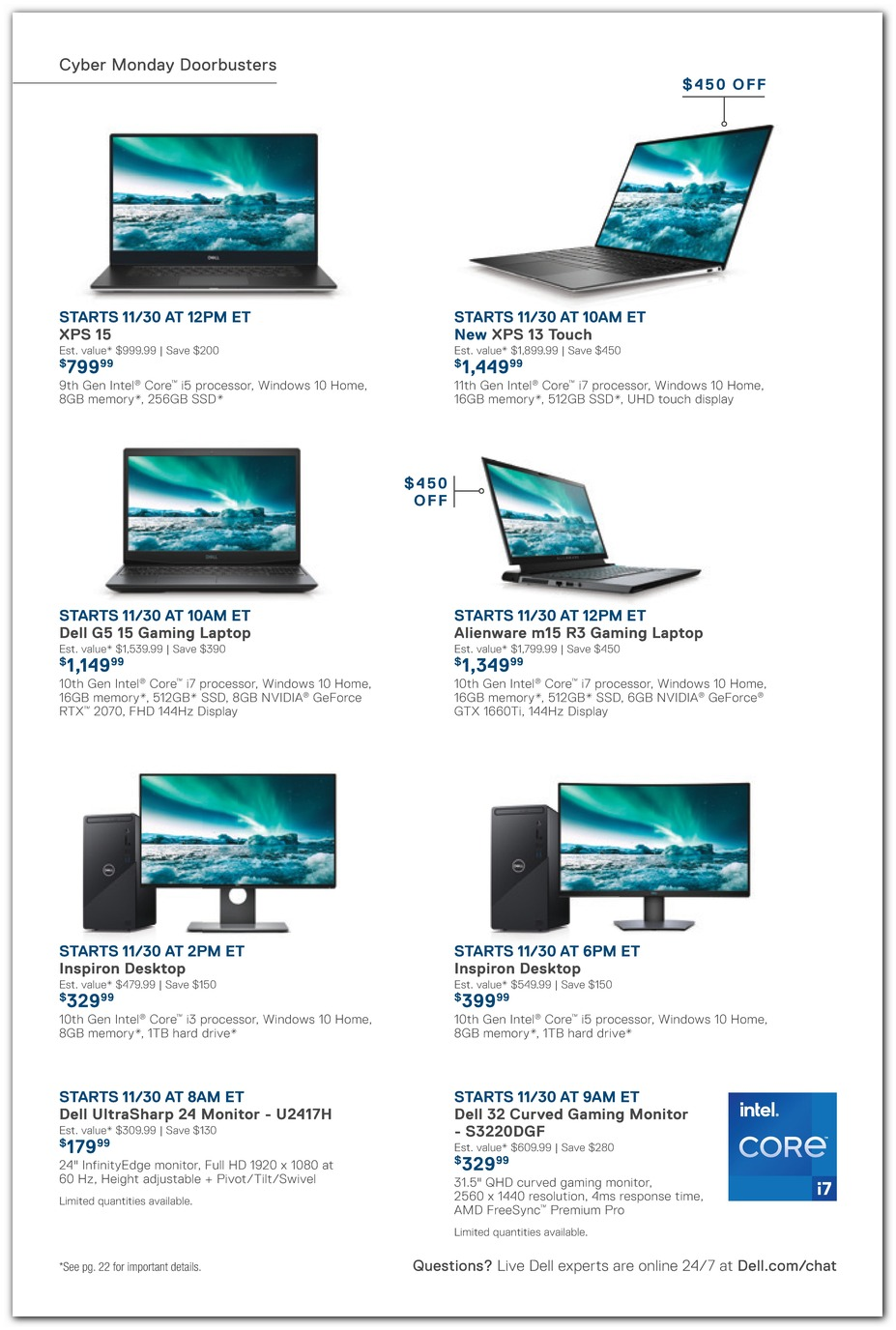 Cyber Monday Laptops / Desktops
