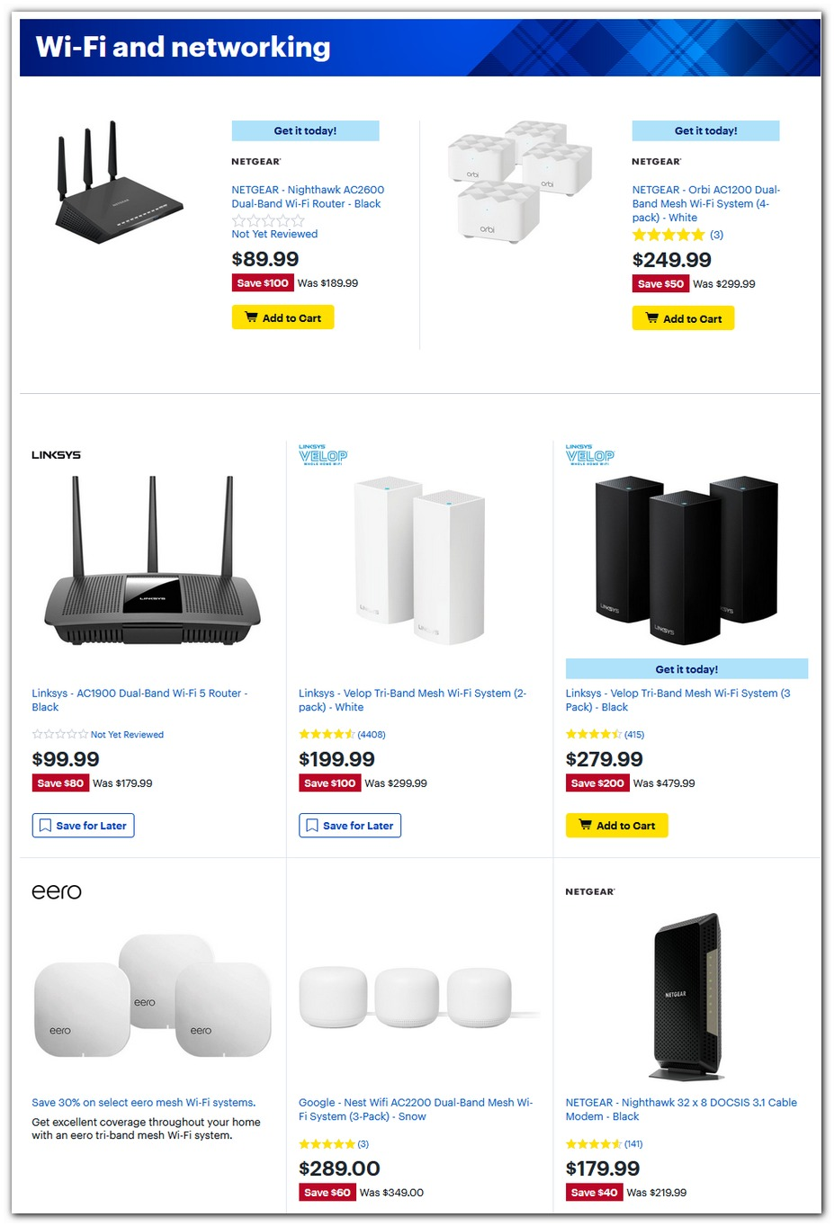 Mesh Wi-Fi / Routers