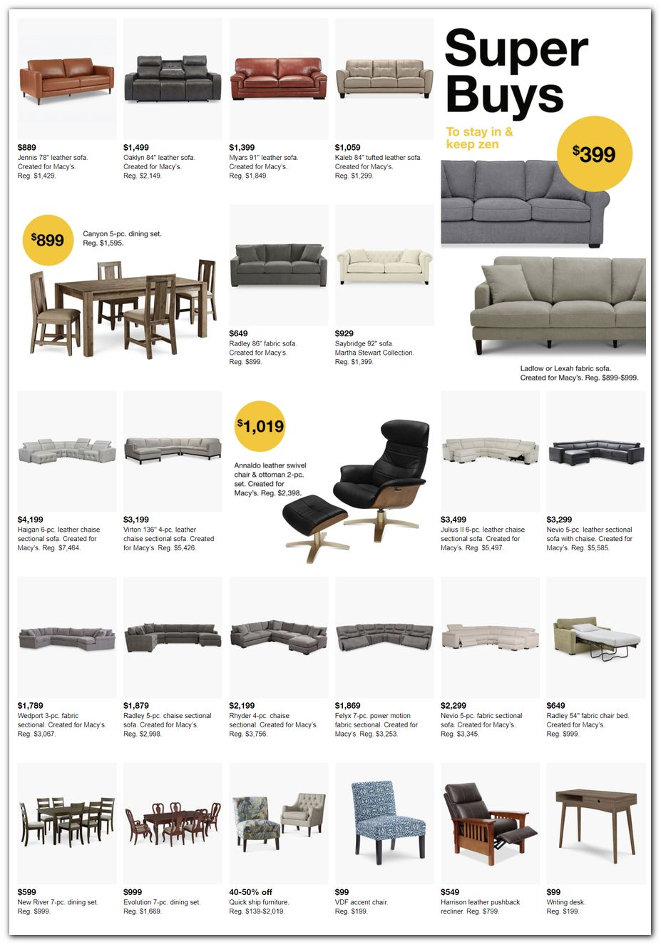Sofa / Sectionals / Dining Sets