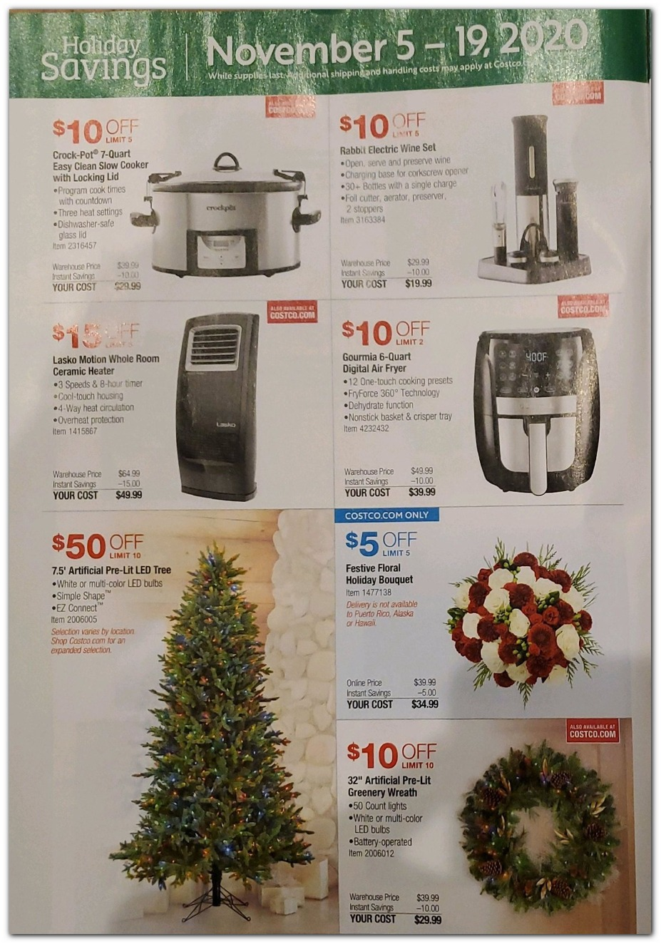 Nov 5 Sale - Small Appliances / Holiday