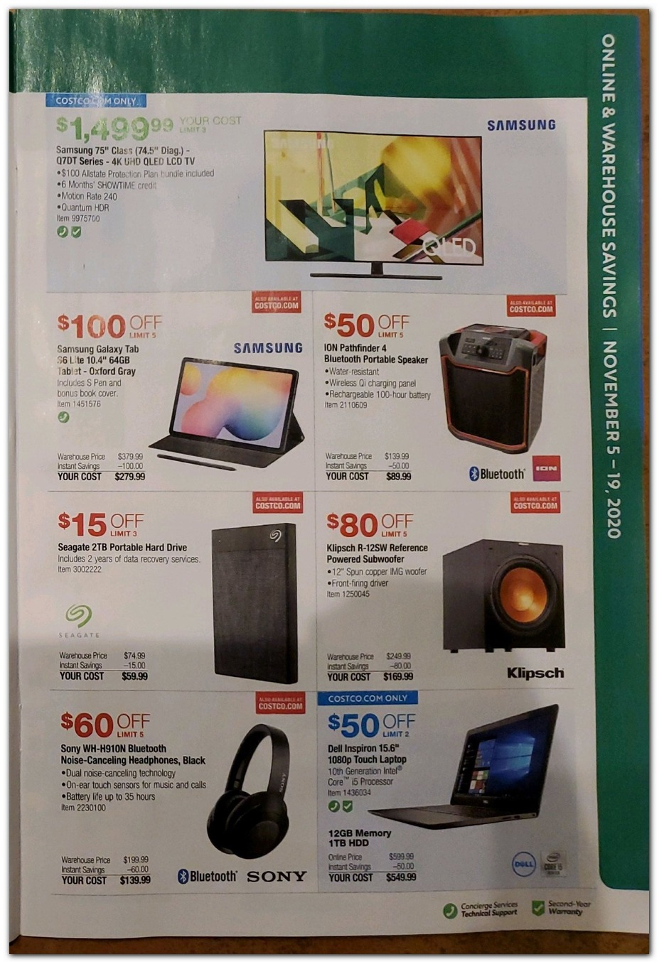 Nov 5 Sale - HDTV / Tablet / Speaker