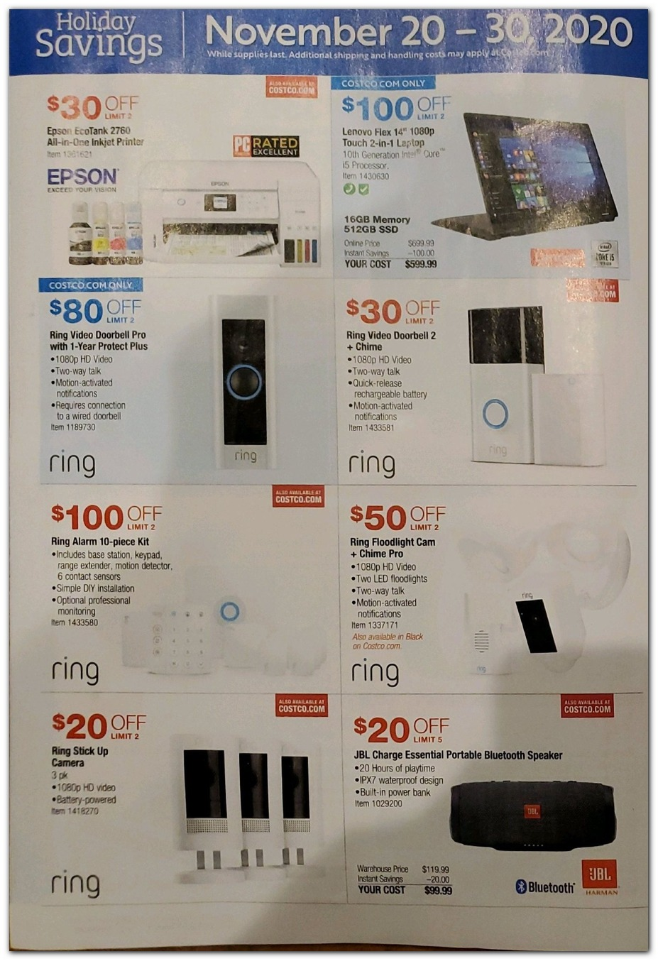 Nov 20 Sale - Ring Electronics