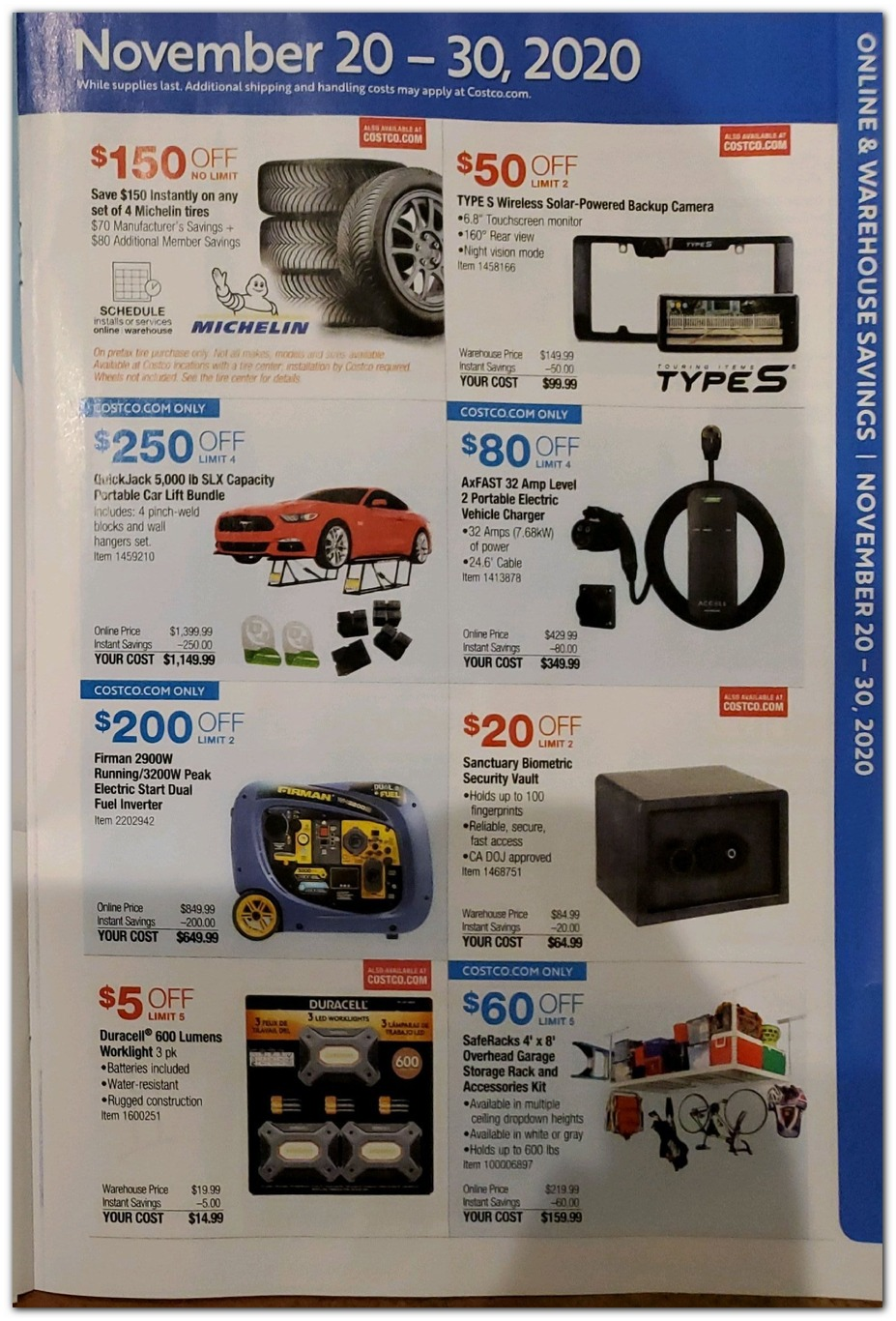 Nov 20 Sale - Tires / Safe / Garage