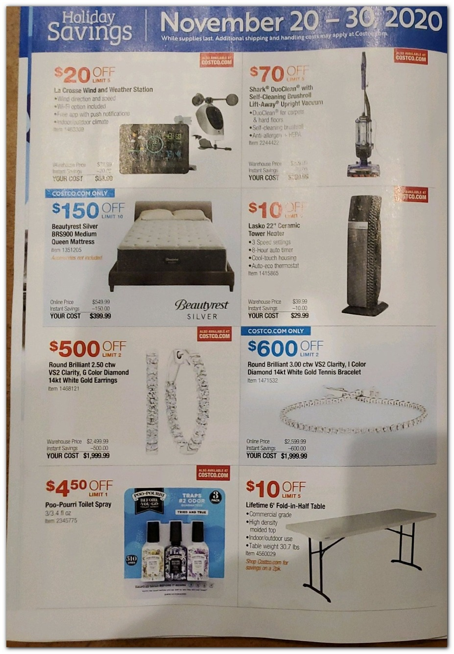 Nov 20 Sale -Vacuums / Jewelry
