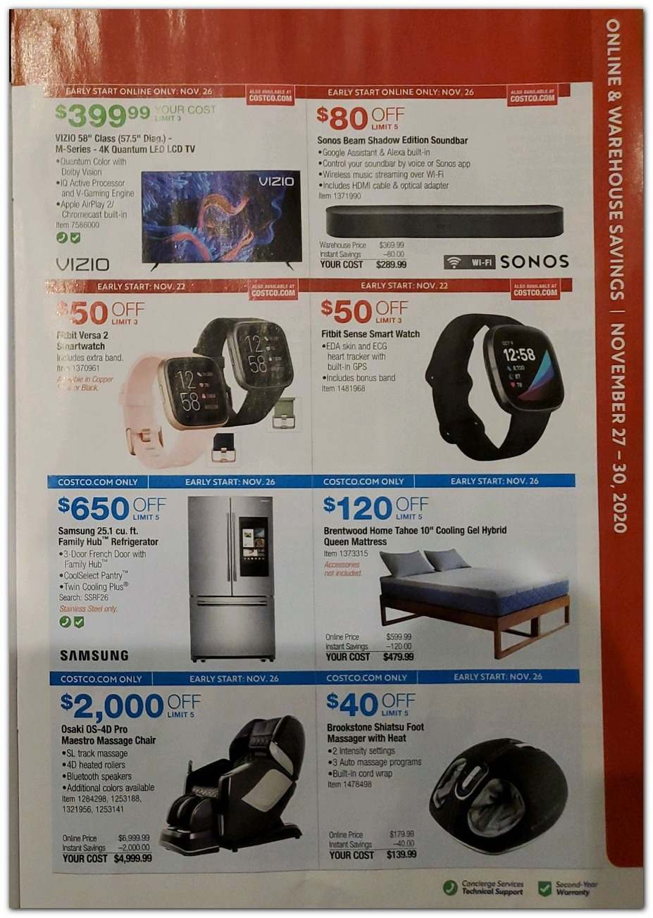 Black Friday - HDTV / Smart Watch / Massage