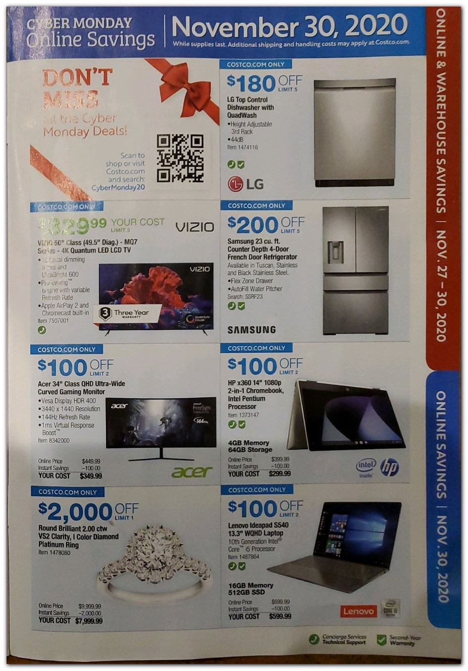 Cyber Monday - Appliances / HDTV