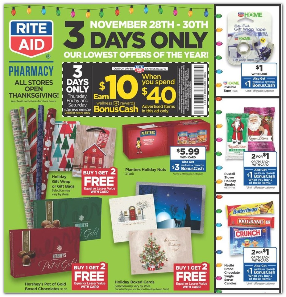 Coupons / Holiday Wrap / Cards