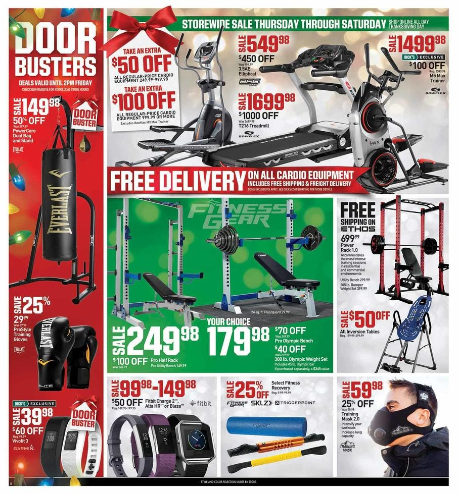 Fitness Equipment Advertisements: Dicks Sporting Goods Deals