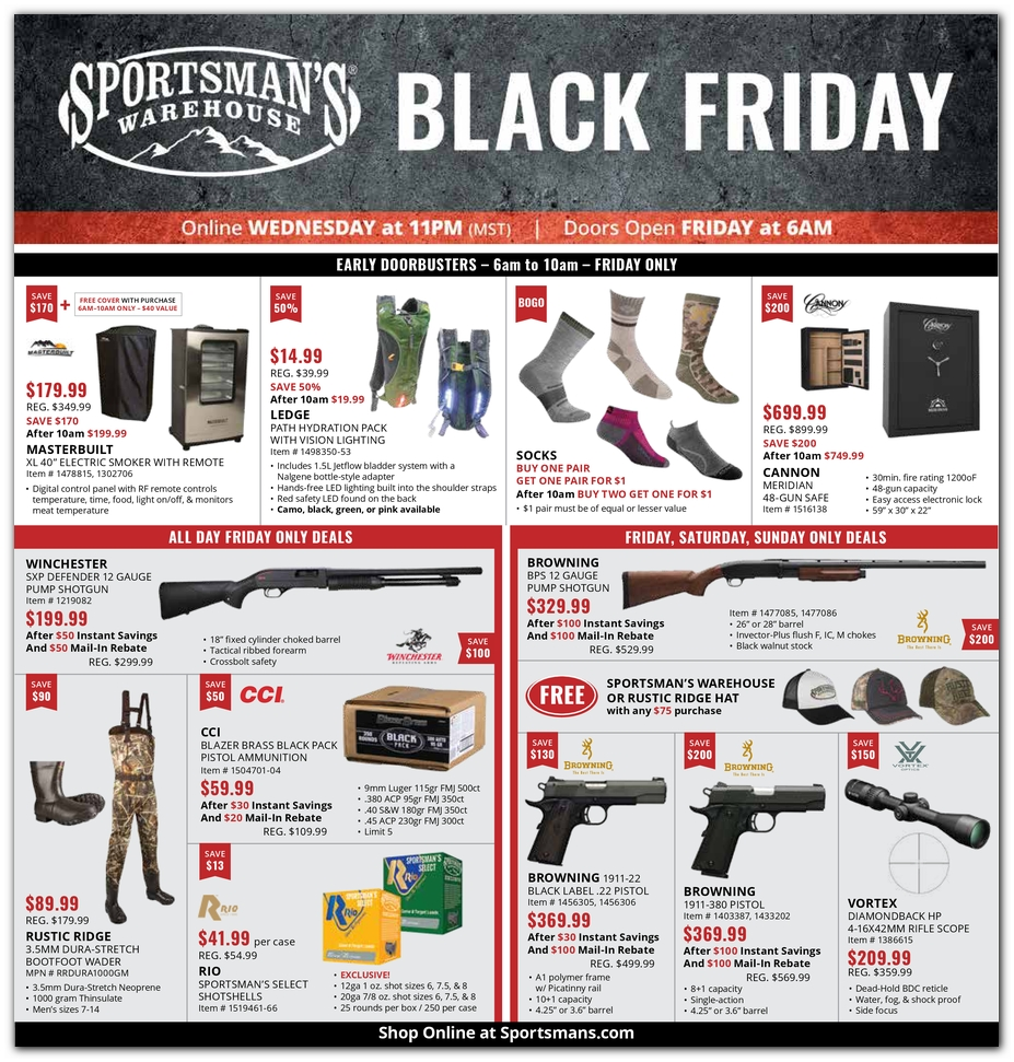 Black Friday Sportsman S Warehouse Deals