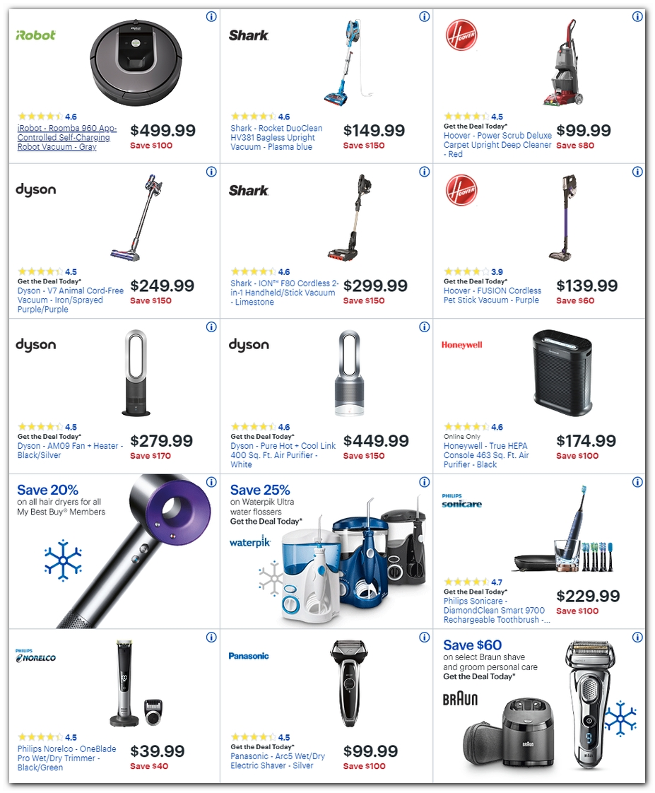 Vacuums / Shavers / Air Purifiers