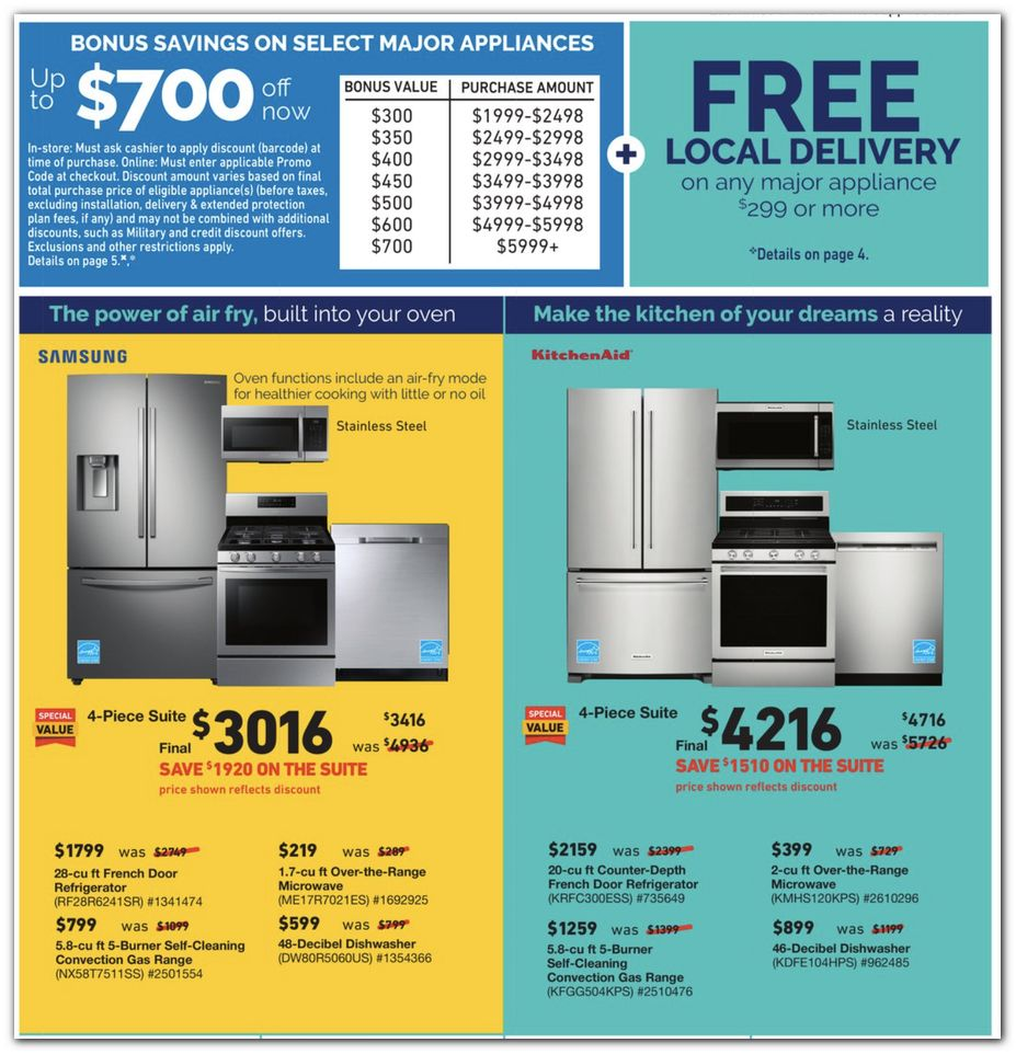 Appliance Sets