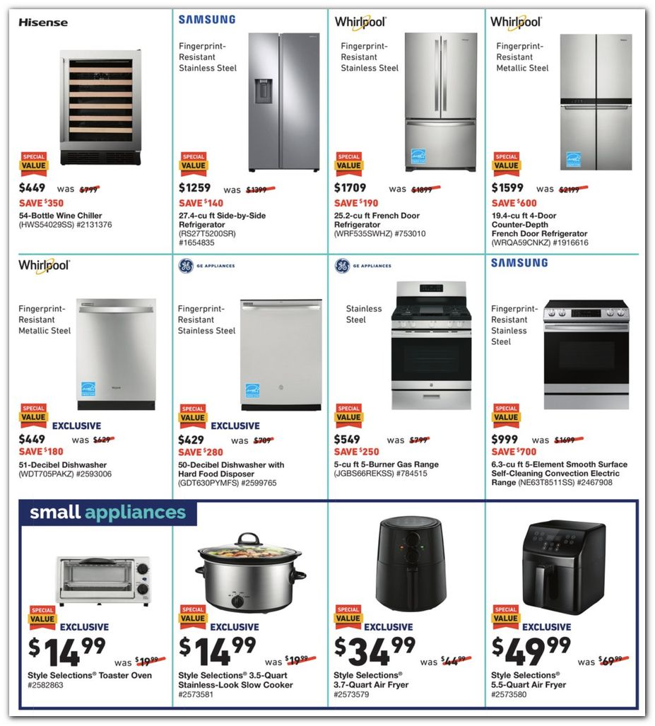 Fridges / Ranges / Small Appliances