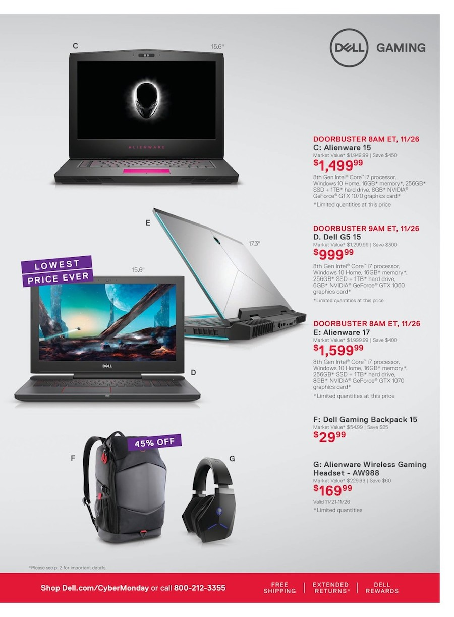 Alienware Laptops / Backpack