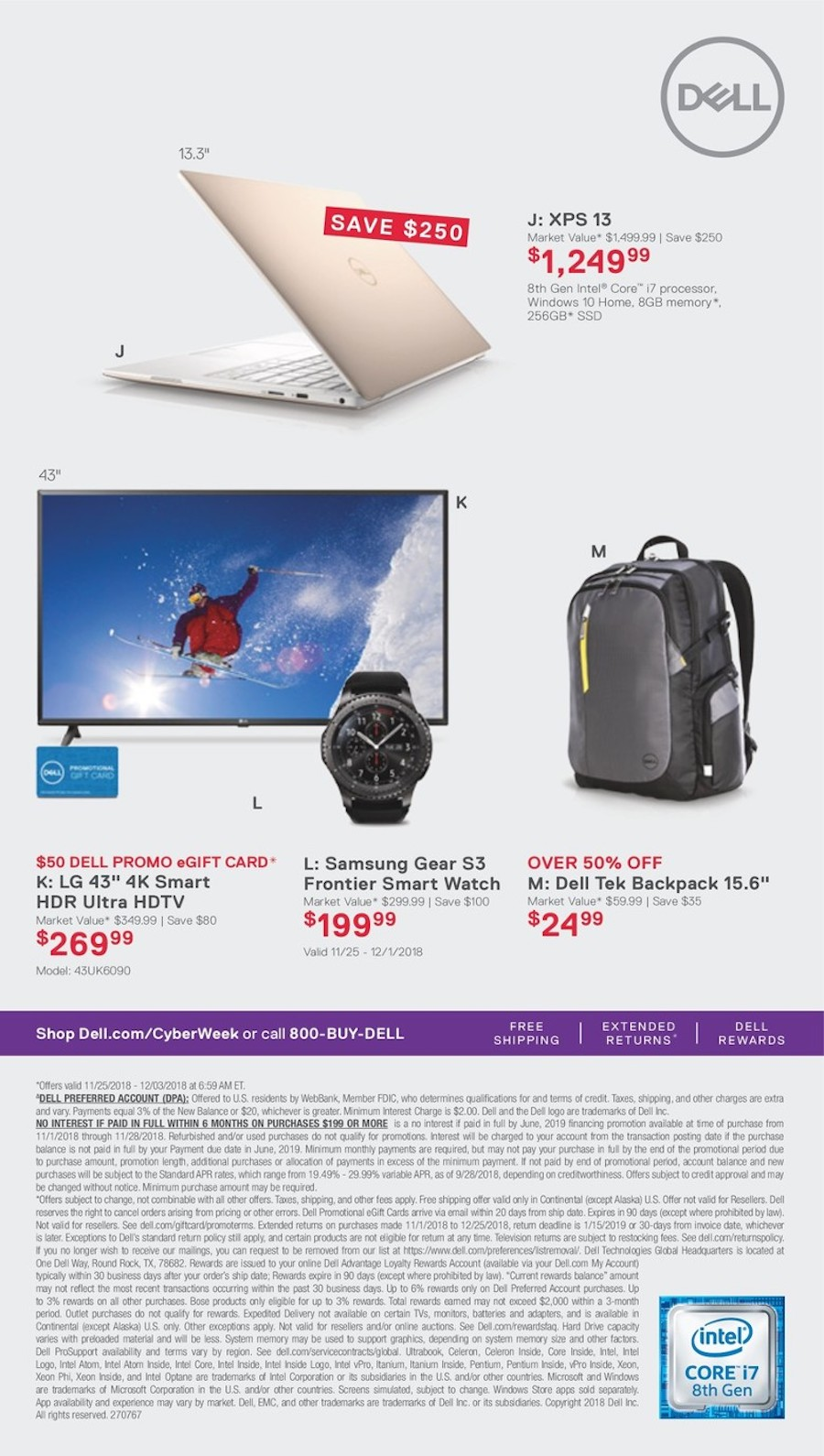 Laptop / HDTV / Smartwatch