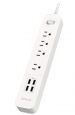 dodocool 4-Outlet Power Strip w/ 4 USB Charging Ports & 5 ft. Cord