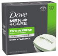 10-count Dove Men and Care Body and Face Bar