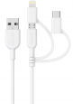 Anker Powerline II 3-in-1 Lightning/Type C/Micro USB Cable