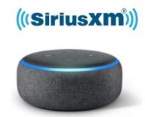 3-months SiriusXM Essential or Premier Streaming + 3rd Gen Echo Dot