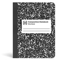 100-Sheet Staples Tru Red Composition Notebook