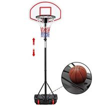 YAHEETECH 5.2 ft-7 ft Height Adjustable Portable Basketball Hoop