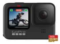 GoPro HERO9 Black 5K Waterproof Action Camera (2020) + 1-yr Subscription at GoPro